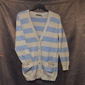 Long striped sweater
